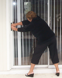 sliding patio door locked