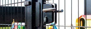 metal gate locks