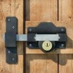 timber gate lock